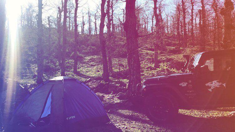 Mornings like this 😎 camping fnaidek tent jk Sahara myjeepstory ... (فنيدق عكار)