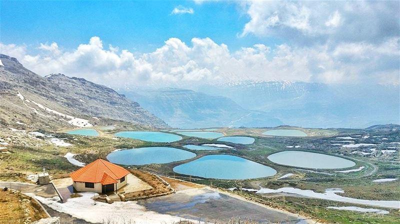 north pond water mountains lebanon plain green nature snapshot ... (Jerd El Akoura)