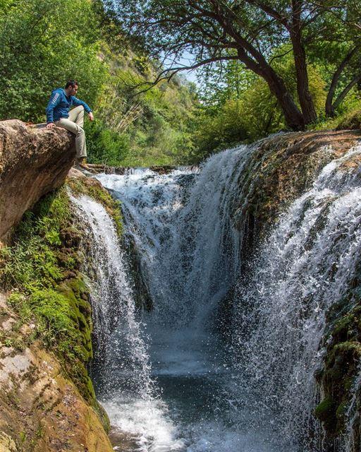 🍃🍃..... sunday trip road nature waterfalls waterfall river clif... (Bqarzla, Liban-Nord, Lebanon)
