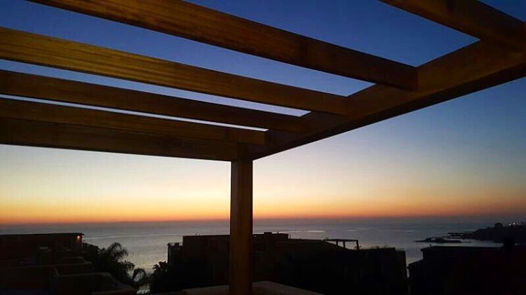 Right on Time for a perfect Sunset.. PergolaKitsLebanon JustCompleted ... (Byblos Sud Village)