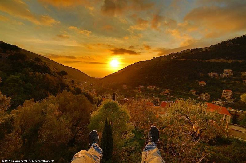 It's all about Mother Nature!  nature  me  sky  sunset  clouds  lebanon ... (`Aramoun, Mont-Liban, Lebanon)