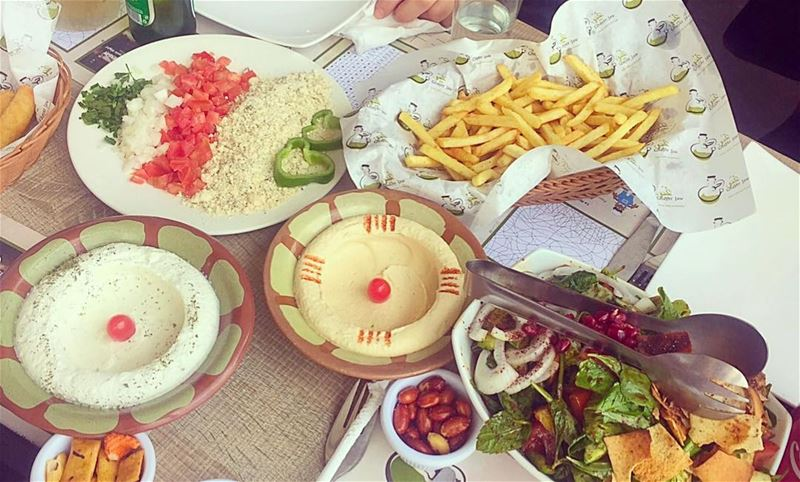 """Lebanese food """"Mezza"""" , you can add some fries on your cheat day ! ...."""