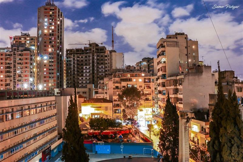 A scene I used to see everyday...Mseitbeh citylights ... Lebanon ...
