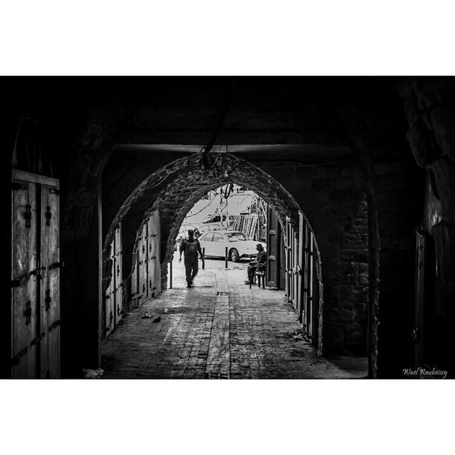 bnw  man  walking  souk  blackandwhite  blackandwhite  street  car ... (Old Saida Souks)