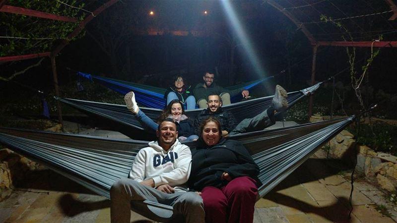 When the rain stops, it's hammock time 🌙🌌........ lebanon ... (Bmahray, Mont-Liban, Lebanon)