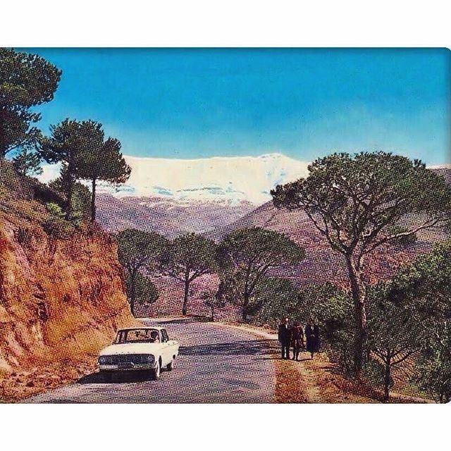 لبنان الستينيات وشموخ جبل صنين .