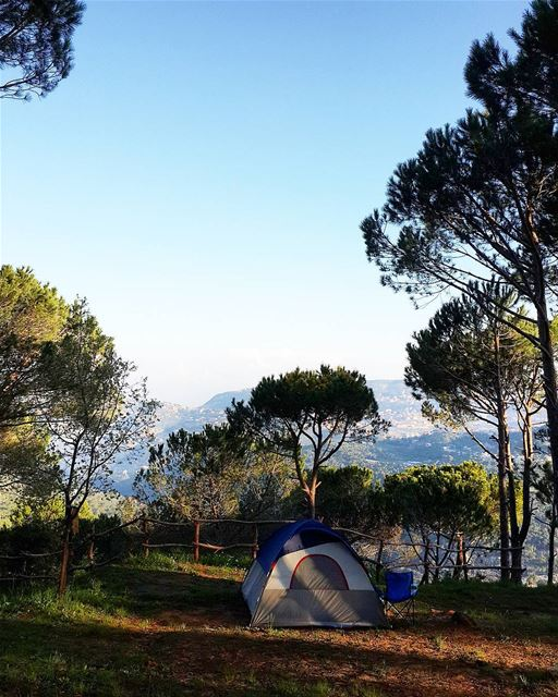 camping with a view 😍⛺ lebanon camping sunrise lebanonspotlights ...