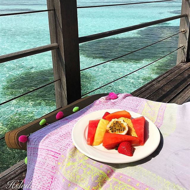 Bonne journée,bon appétit ❤️ insta_lebanon whatsuplebanon... (Club Med Kani Maldives)