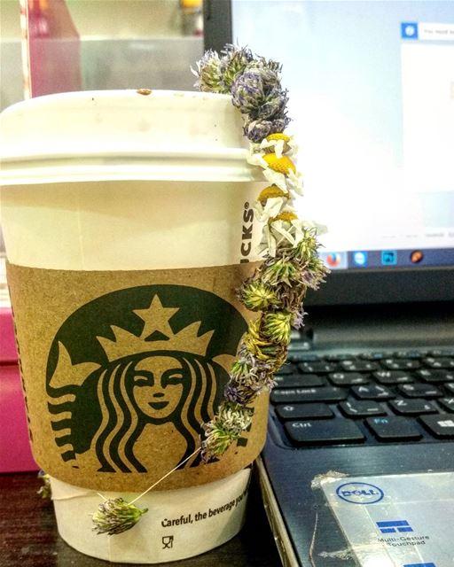 My hot chocolate, My bracelet 🌼🌹🌷 starbucks hotchocolate work hamra... (Hamra street , Beirut - شارع الحمرا ، بيروت)
