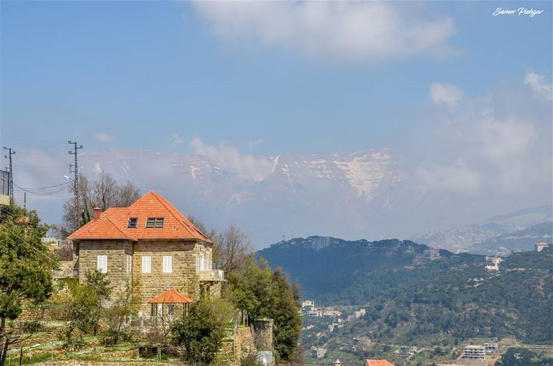 The house facing Mount Sannine...Dhour Shweir Lebanon @livelovedhourshw