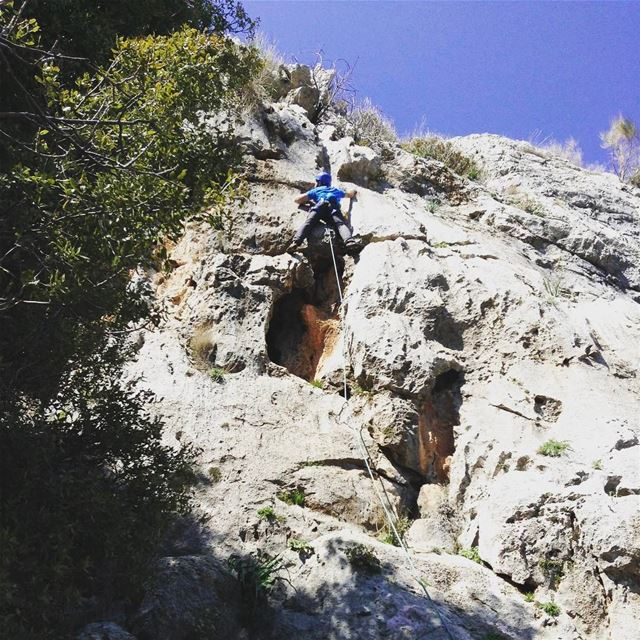 Back to  climbing after a few months off the  rock always great to be out... (Châtîne, Liban-Nord, Lebanon)