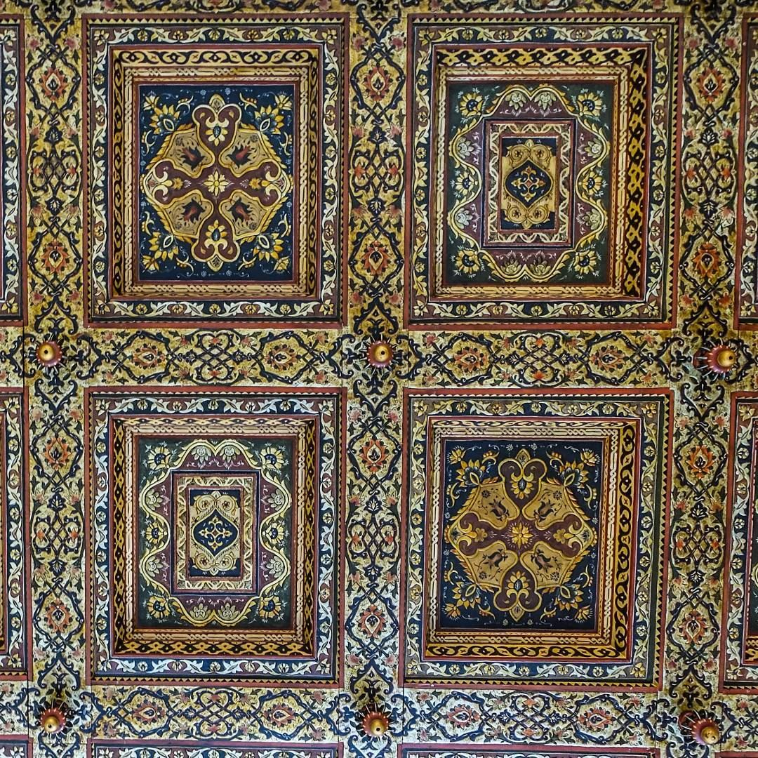 Wood carved ceiling details at Beiteddine Palace. throwback lebanon tb... (Beiteddine Palace)