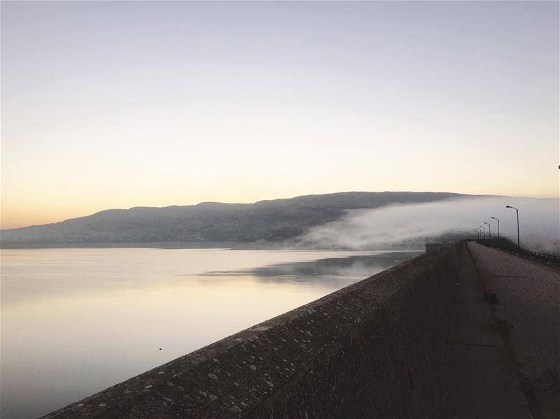 photography lake lebanon nature cloud sunrise qaraoun bekaa ... (Lake Qaraoun)