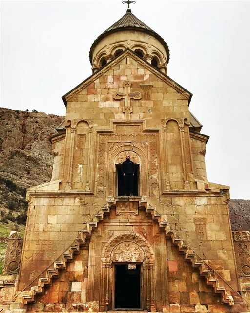 The main facade of Surb Astvatsatsin (the holy mother of god), the... (Noravank)