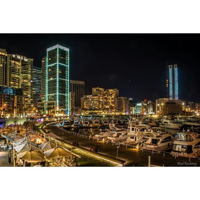 beirut  lebanon  waterfront  night  nightshot  beirutlife  city  lights ... (Saint Georges)