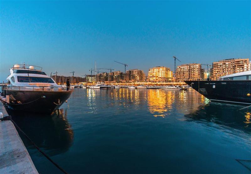 Blue hour (2) livelovedbayeh waterfrontcitydbayeh livelovebeirut ...