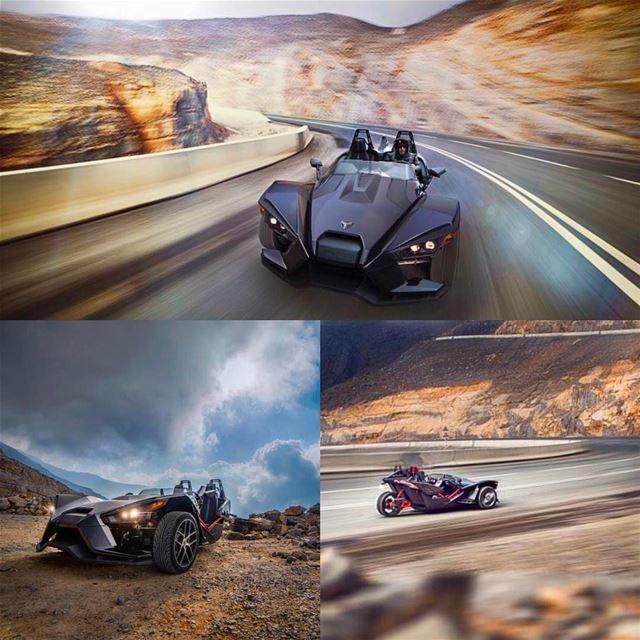 Amazing shots of the unique Polaris Slingshot by @bikenationmagazine !...