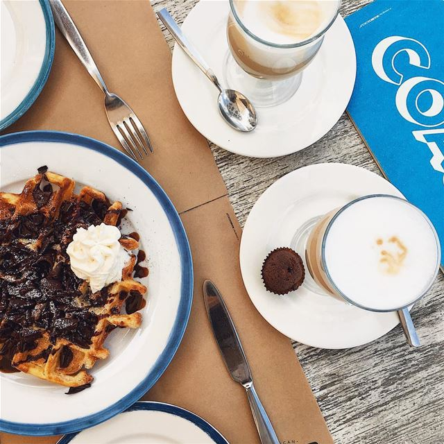 """Coffee and waffle"" are three beautiful words☕️.. wheresthewaffleemoji ... (COAST)"