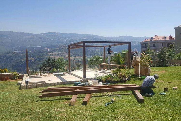 Under Construction! PergolaKitsLebanon. Pergola Wood Teak TeakWood ... (Ballouneh, Mont-Liban, Lebanon)