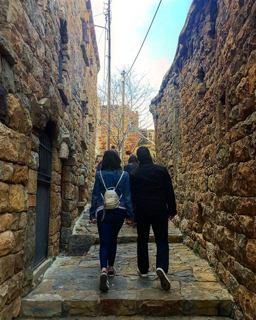 The best couple in one of the best lebanese towns architecture ... (Bekaa Kafra)