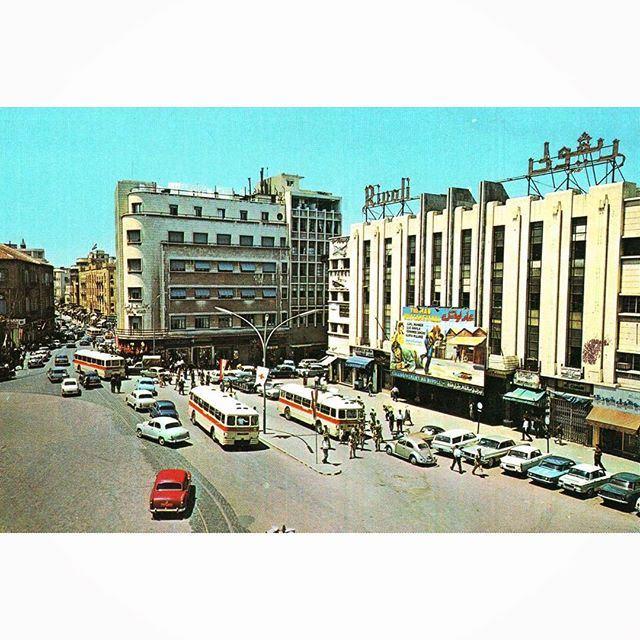 صباح الخير من بيروت ساحة الشهداء ،