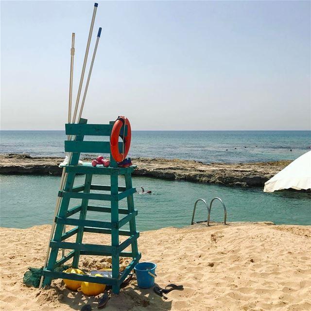 April beach 🏖🌊••••••••••••••••• Lebanon thisislebanon ... (Lazy B)
