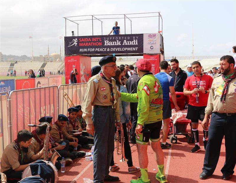 Old friends meet... oldfriends scouts lebanesescouts saidastadium ...