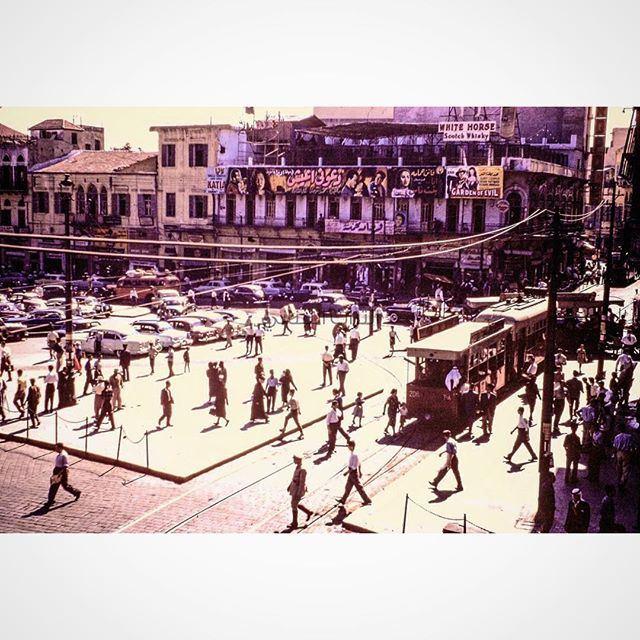 بيروت ساحة الشهداء عام ١٩٦٠ ،