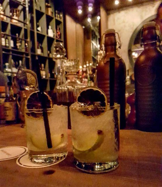 Brazil on Beirut on the rocks! Caipirinha is the national drink of... (Bar Du Port Beirut)