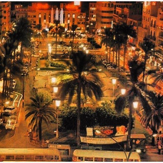 بيروت ساحة الشهداء عام ١٩٧٤ ،