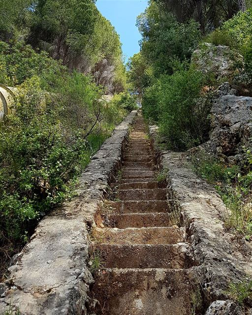 Stairway to Heaven☘🌿🍀 whpnaturalbeauty mountains goodvibes ... (Kaftoun Al Koura)