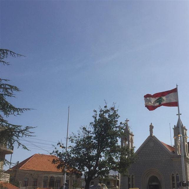 livelovelebanon ig_lebanon lebanon church flag instalike ... (El Mroûj, Mont-Liban, Lebanon)