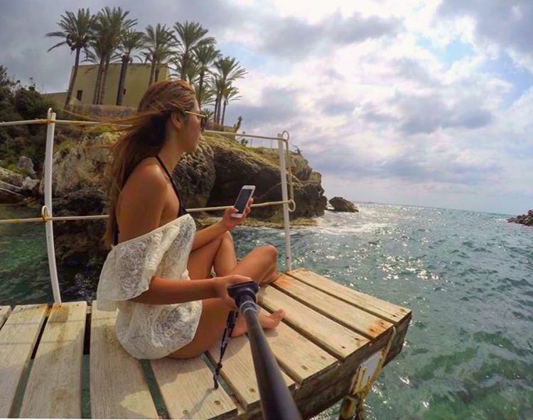 Somedays, all I do is watch the sea ☀️🌊🌴 SummerVibes Batroun Lebanon ... (Batroûn)