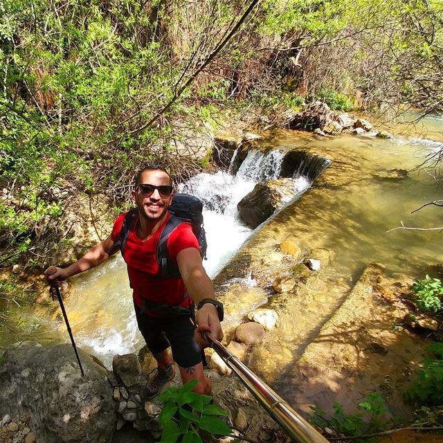 🌲🚶🌊🌲....... Lebanon  waterfalls  river  nature  backpacking ... (Baskinta, Lebanon)