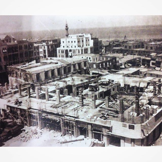 A Rare Photo Cinema Rivoli Under Construction Beirut Martyrs Square in 1950 .