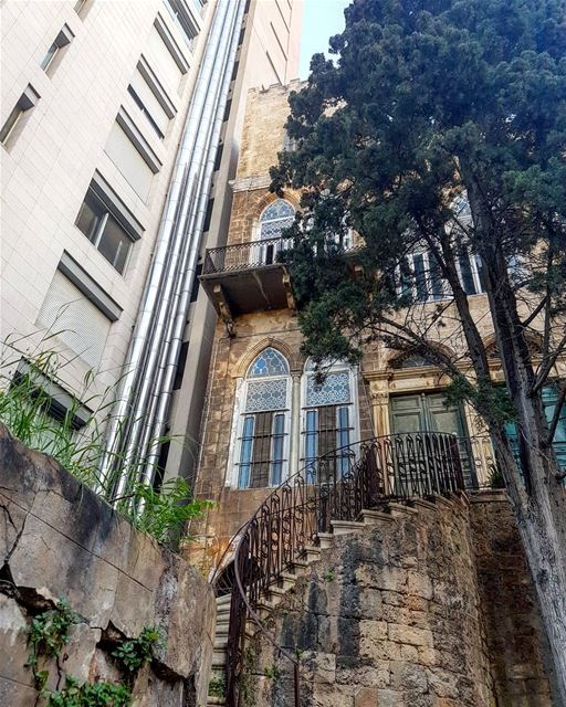 I call it resistance. skyscraper old house beirut lebanon middleeast... (Beirut, Lebanon)