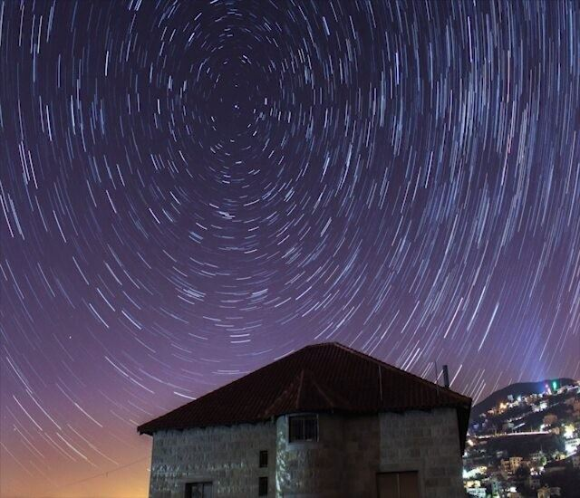 StarTrail Timelapse up in the clear skies above 🙌. This one realy took... (Arabsalim, Lebanon)