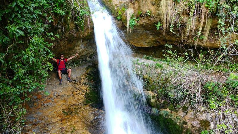 From a diffrent angle📷........ Lebanon  waterfalls  nature ... (Baskinta, Lebanon)