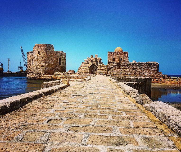 Sidon Sea Castle Sidon Lebanon SidonSeaCastle SeaCastle Insta_Jezzine... (Sidon Sea Castle)