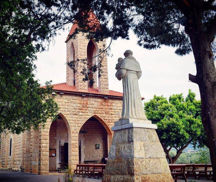 Photo taken by nikon old church green trees good vibes ... (Kfarzayna Zgharta)