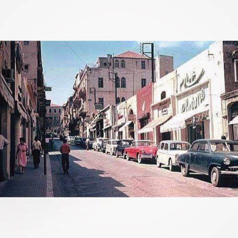 Beirut Patriarche Hoyeck street in 1961 .