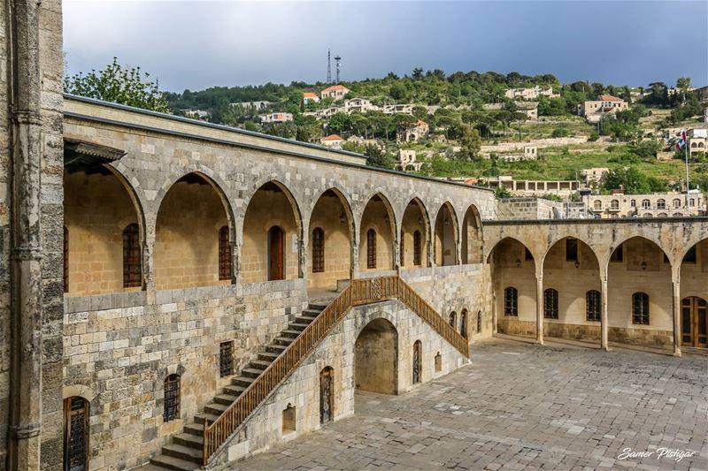 The 19th century palace of Beiteddine... Lebanon ... palace castle ...