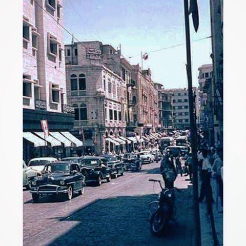 شارع ويغان ، بيروت عام ١٩٦٠ ،