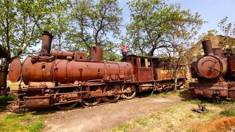 Train-jacking 🚂......... Lebanon  train  bekaa  vintage  rusty ... (Riyaq, Béqaa, Lebanon)