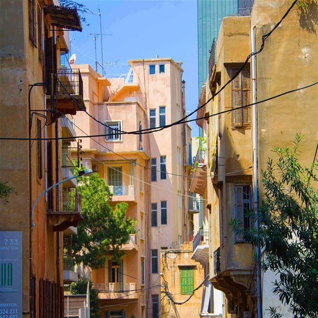 Just like a painting ❤ parallel lines beirut lebanon buildings ...