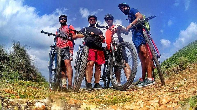 Cycling gang 😎 friends  brothers  cycling  together  oneclub  ride  bike... (Nakoura Beach)