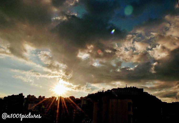 Sunrise over Lebanon's mountains..... sun travel sunrise lebanon ... (Lebanon)