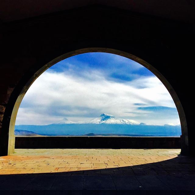 Arch of Charents (architect: Raphael Israyelian) was built in 1957, with a... (Ararat Charents Arch)
