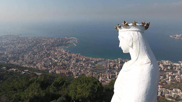بركة لبنان (📸 الراهب ايلي قرقماز) Lebanon Harissa Jounieh SaintMary ...