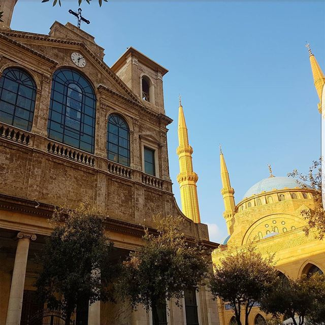 beirut lebanon middleeast amazing colours mosque church religion ... (Beirut, Lebanon)